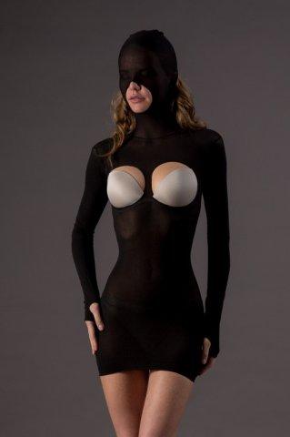 Мини платье-маска Leg Avenue, цвет Черный, размер One Size