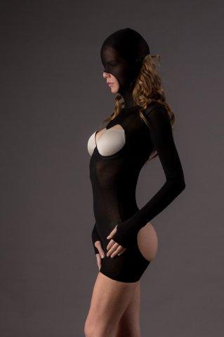 Мини платье-маска Leg Avenue, цвет Черный, размер One Size, фото 2