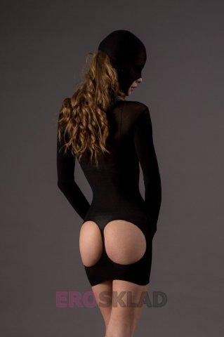 Мини платье-маска Leg Avenue, цвет Черный, размер One Size, фото 4