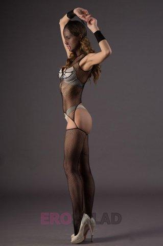 Бдсм-комбинезон из сетки - leg avenue, цвет черный, размер one size, фото 3