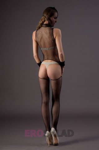 Бдсм-комбинезон из сетки - leg avenue, цвет черный, размер one size, фото 5
