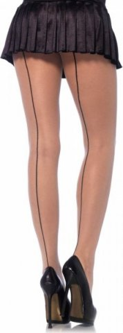 Колготки со стрелкой Leg Avenue, цвет Телесно-черный, размер One Size