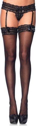 Чулочки с поясом Leg Avenue, цвет Черный, размер One Size