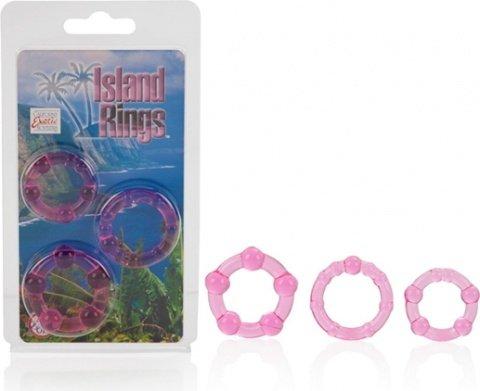 Комплект из 3-х эрекционных колец Island Rings - Pink