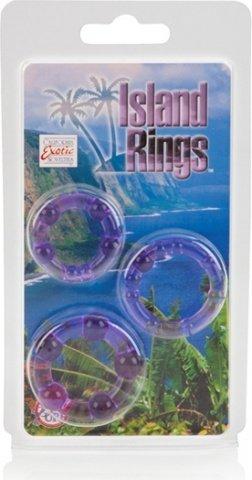 Комплект из 3-х эрекционных колец Island Rings - Pink, фото 3
