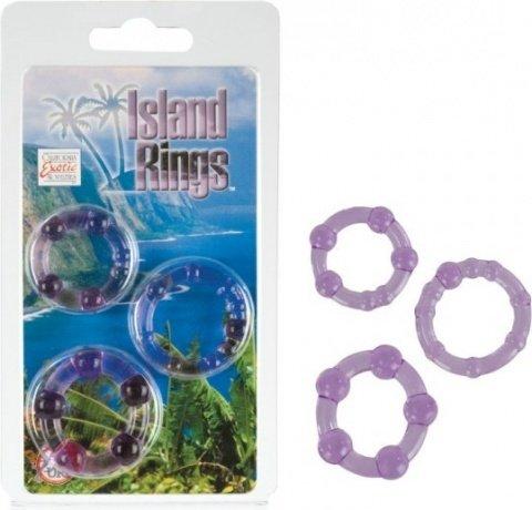 Комплект из 3-х эрекционных колец Island Rings - Pink, фото 4