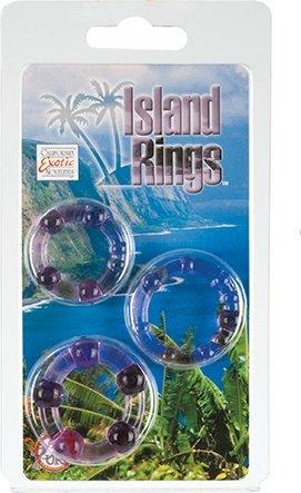 Комплект из 3-х эрекционных колец Island Rings - Pink, фото 5