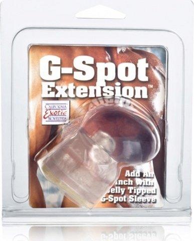 Насадка на пенис g-spot extension прозрачная, фото 3