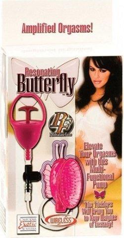 Помпа-бабочка розовая для клитора, фото 3