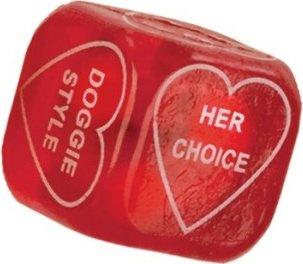 Любовный кубик party dice красный