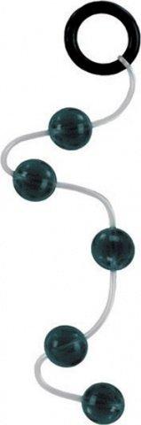 Анальная цепочка Softee Beads на мягкой сцепке серая, фото 2