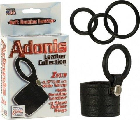 Adonis zeus leather cockring 1367-50bxse