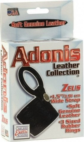 Adonis zeus leather cockring 1367-50bxse, фото 2