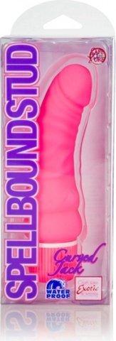 Вибратор spellbound stud curved jacks pink 0839-10bxse 15 см, фото 3