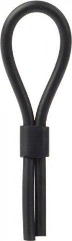 Черное силиконовое лассо на пенис 12 см, фото 13