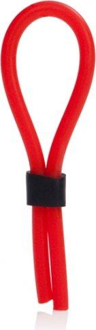 Красное силиконовое лассо на пенис, фото 2