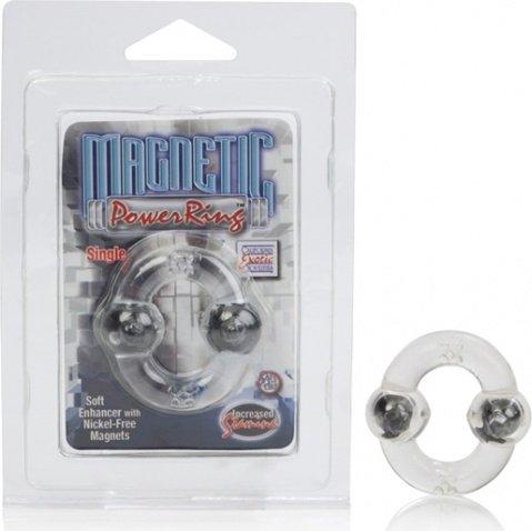 Эрекционное кольцо с магнитами-Magnetic Power Ring Single Clear Starship, фото 2