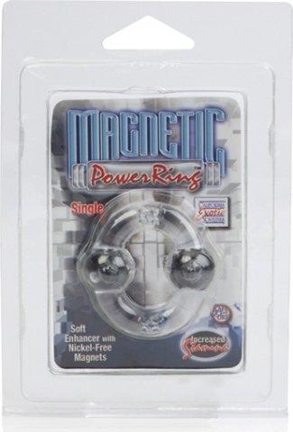 Эрекционное кольцо с магнитами-Magnetic Power Ring Single Clear Starship, фото 4