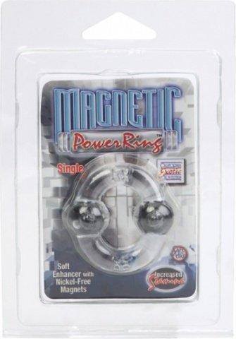 Эрекционное кольцо с магнитами-Magnetic Power Ring Single Clear Starship, фото 6