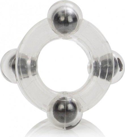 Двойное эрекционное кольцо Magnetic Power Ring с магнитами прозрачное, фото 6