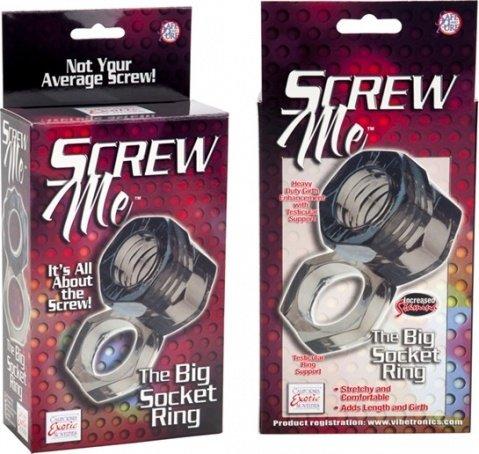 Кольцо screw me the big socket ring 1475-40bxse, фото 6