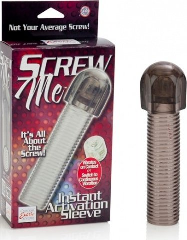 Насадка с вибро screw me instant activation sleeve 1475-60bxse, фото 2