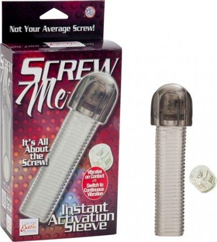 Насадка с вибро screw me instant activation sleeve 1475-60bxse, фото 6