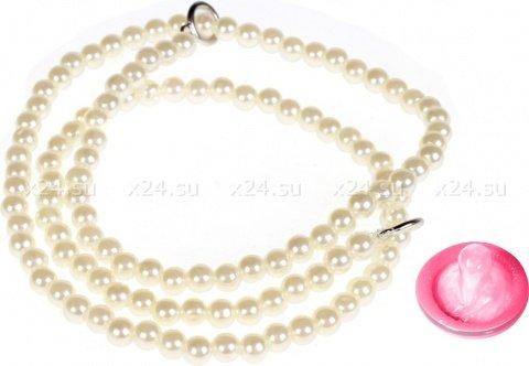 Наручники из полиэстера с жемчугом playful in pearls-pearl cuf белые