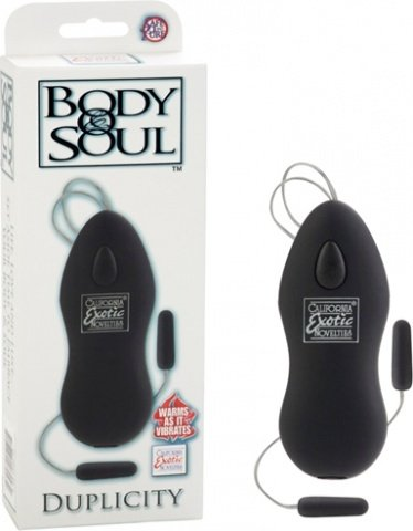 Вибромассажер body&soul duplicity black 0044-80bxse, фото 5