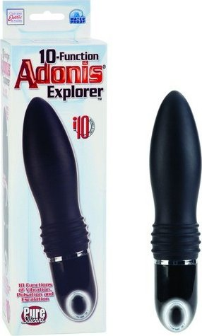 Вибромассажер 10-function adonis explorer black, фото 11