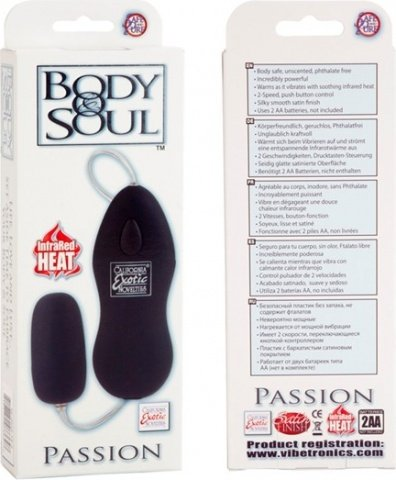 Виброяйцо body&soul passion black 0040-15bxse, фото 6
