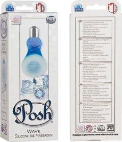 Мини-вибратор Posh Silicone Ice Massager Wave с охлаждающим эффектом голубой, фото 4