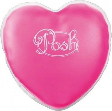 Согревающий массажер в форме сердца posh warming heart massagr розовый, фото 3