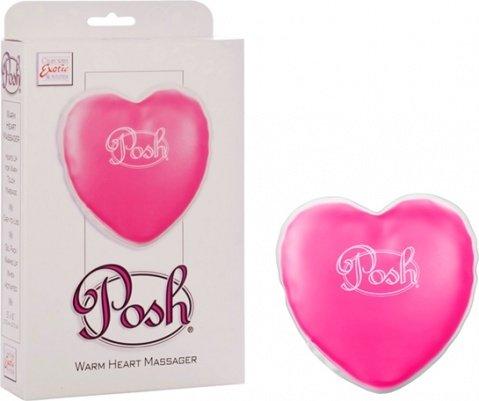 Согревающий массажер в форме сердца posh warming heart massagr розовый, фото 5