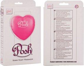 Согревающий массажер в форме сердца posh warming heart massagr розовый, фото 4