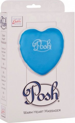 Теплый массажер posh warm heart massagers blue 2094-20bxse, фото 2