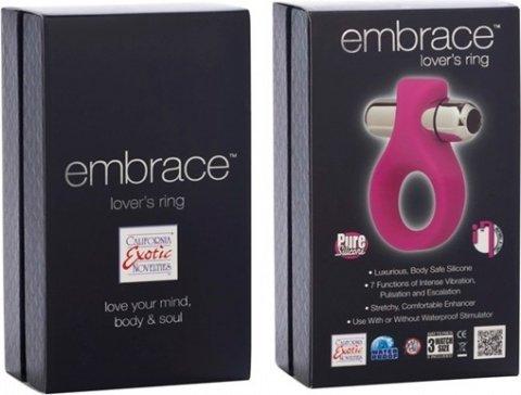 Вибронасадка Embrace Lovers Ring - Pink розовая, фото 3