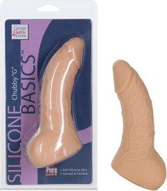 Фаллоимитатор Silicone Basics Chubby G силиконовый телесный 15 см, фото 4