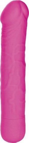 Розовый вибратор Silicone Basics 10-Function stud 16 см