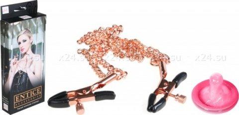 Зажимы для сосков с цепями Entice Accessories, фото 2