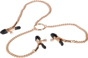 Зажимы для сосков и половых губ с цепью Entice Triple Intimate Clamps золотистые