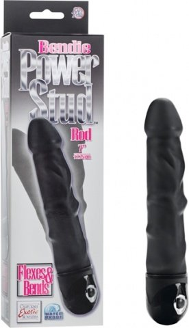 Вибратор bendie power stud curvy rod black 0837-05bxse 16 см, фото 4