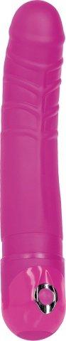 Фаллоимитатор рельефный Bendie Power Stud Little Guy с вибрацией розовый 16 см