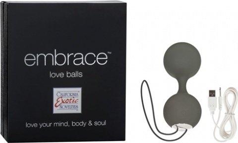 Вагинальные шарики embrace love balls grey 4604-10bxse, фото 2