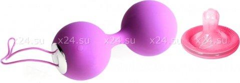 Вагинальные вибро-шарики перезаряжаемые Embrace Love Balls силиконовые фиолетовые