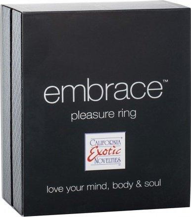 Перезаряжаемое эрекционное кольцо с вибро-стимулятором Embrace Pleasure Ring розовое, фото 3
