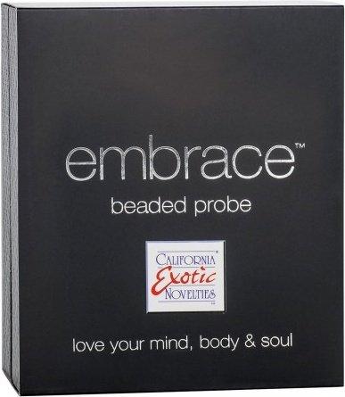 Перезаряжаемый вибро-стимулятор Embrace Beaded Probe серый 9 см, фото 2