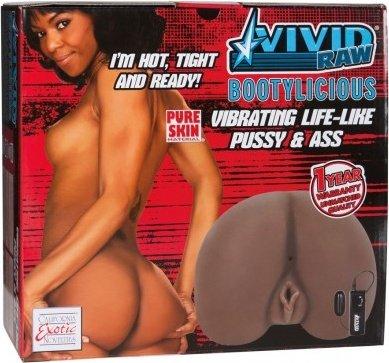 Мастурбатор реалистичный Vivid Raw Bootylicious с вибрацией мулатка, фото 2