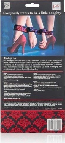 Бондаж Scandal Bondage Bar черный с красным, фото 6