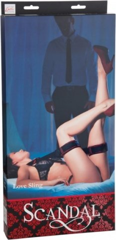 Наножники Scandal Love Sling с длинным ремешком черные с красным, фото 5